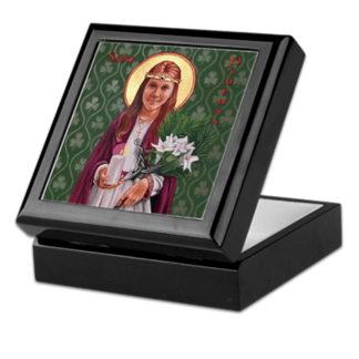 St. Dymphna Keepsake/Rosary Box