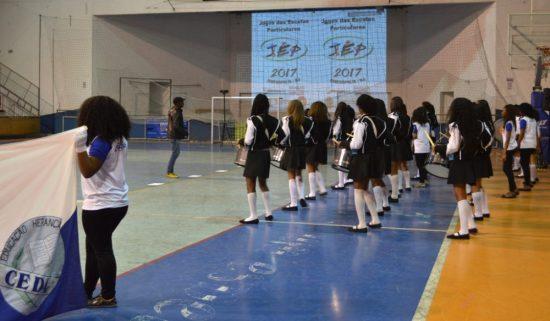 Banda Dançante do Cedal na abertura dos Jogos das Escolas Particulares de Teresópolis