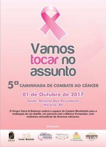 OUTUBRO ROSA  :  'Amigas da Mama' realiza neste domingo, 1º, a 5ª caminhada  de combate ao câncer