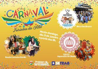 1º Pré-Carnaval da Feirinha de Teresópolis terá show, bloco e escola de samba