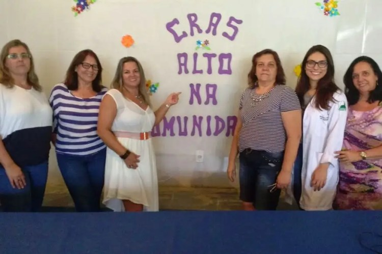 Equipe participante do projeto CRAS Alto na Comunidade