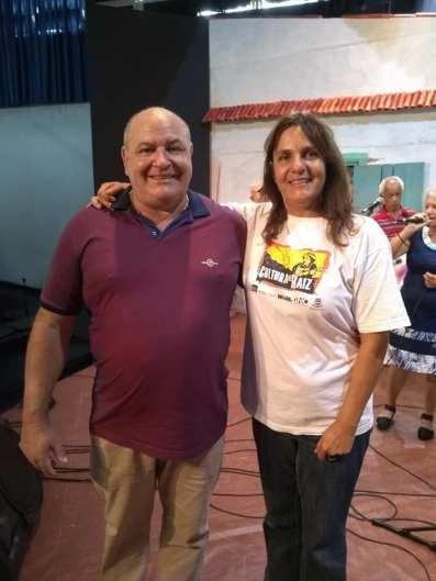 (Sec. Cultura) – Prefeito Pedro Gil e Nara Zeitune, apresentadora do programa