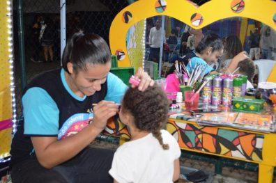 Pintuagem e espaço kids para a garotada