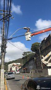 Em uma semana os técnicos da Prefeitura já procederam com a manutenção de mais de 160 pontos de luz na cidade