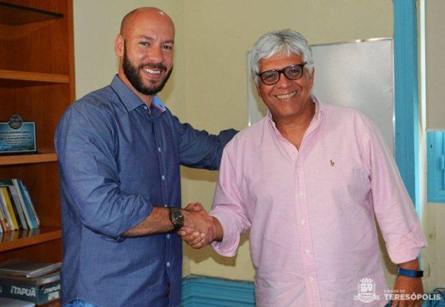 Prefeito Vinicius Claussen e Milton Rattes, secretário estadual de Trabalho e Renda