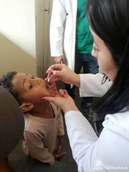 Imunização no Dia D no PSF de Vargem Grande