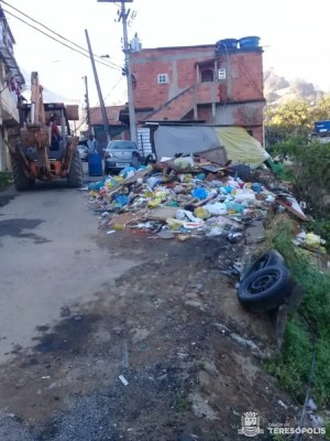 Antes, durante e depois da realização das ações na rua Tancredo Neves