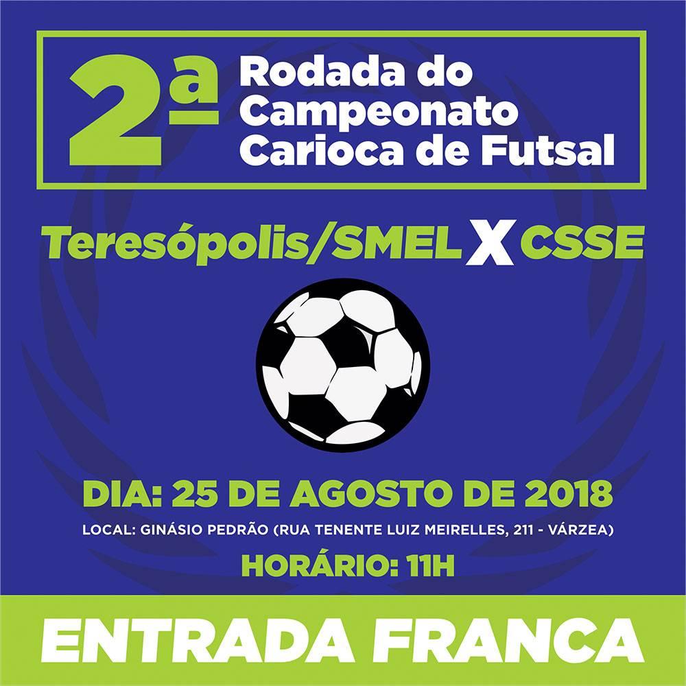 TERESÓPOLIS/SMEL ENFRENTA O CSSE NO CARIOCA DE FUTSAL