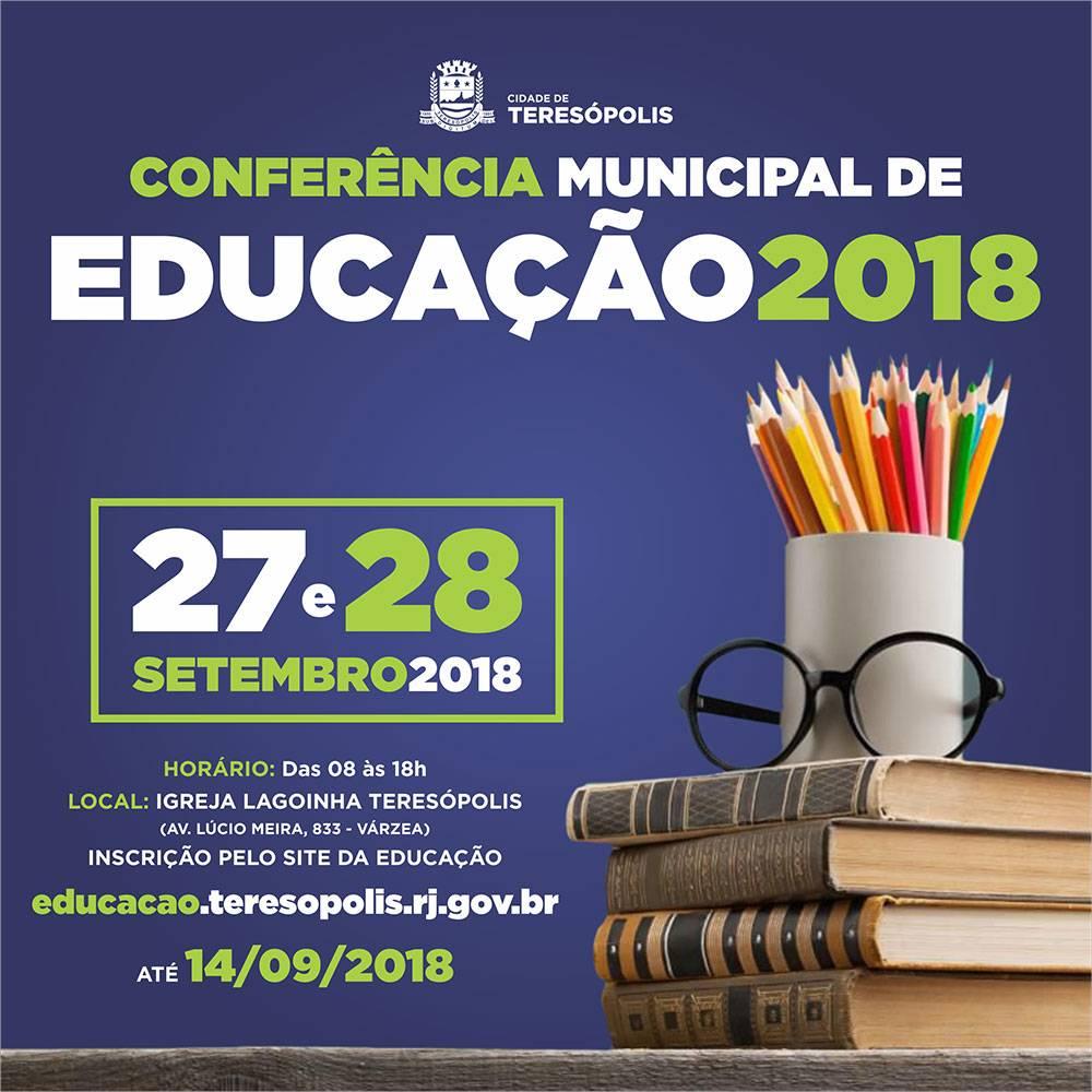 TERESÓPOLIS REALIZA CONFERÊNCIA DE EDUCAÇÃO NESTAS QUINTA E SEXTA, 27 E 28 DE SETEMBRO