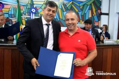 Subsecretário de Assessoramento de Transporte Davi Ribeiro Serafim com o Vereador Alessandro Cahet