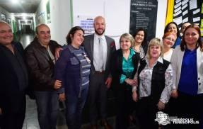 Autoridades e convidados na inauguração, em Bonsucesso