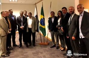 TERESÓPOLIS PARTICIPA DE REUNIÃO DE PREFEITOS DO CONLESTE NA PETROBRAS