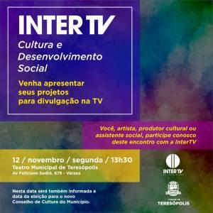 INTERTV SE REÚNE COM ARTISTAS, PRODUTORES CULTURAIS E ASSISTENTES SOCIAIS DE TERESÓPOLIS