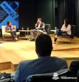 Rodada de conversa com o secretário Lucas Guimarães e a educadora Paloma de Souza, de Teresópolis