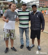 Michael Stanley, Brendon Martins e Gilbertinho Silva, organizadores do evento e unidos pela solidariedade