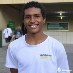 Do curso de Turismo e Hotelaria, Lucas Faria acredita que a formação pode garantir um futuro melhor