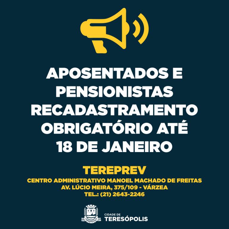 RECADASTRAMENTO DE APOSENTADOS