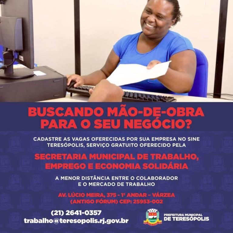 BUSCANDO MÃO-DE-OBRA PARA O SEU NEGÓCIO
