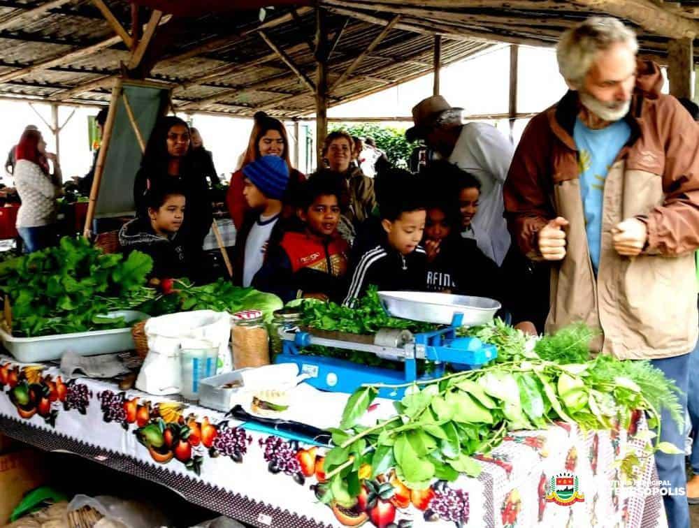 Projeto leva estudantes da rede municipal para conhecerem a Feira Orgânica de Teresópolis