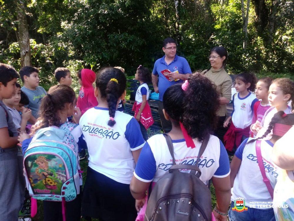 Alunos de escolas municipais participam de ação sobre educação ambiental em Prata dos Aredes