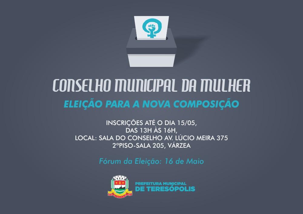 Fórum para eleição da nova composição do Conselho Municipal da Mulher acontece 16 de maio