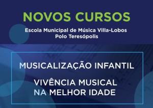 Abertas as inscrições para os cursos de Musicalização Infantil e Vivência na Melhor Idade do Polo Teresópolis da Escola de Música Villa-Lobos