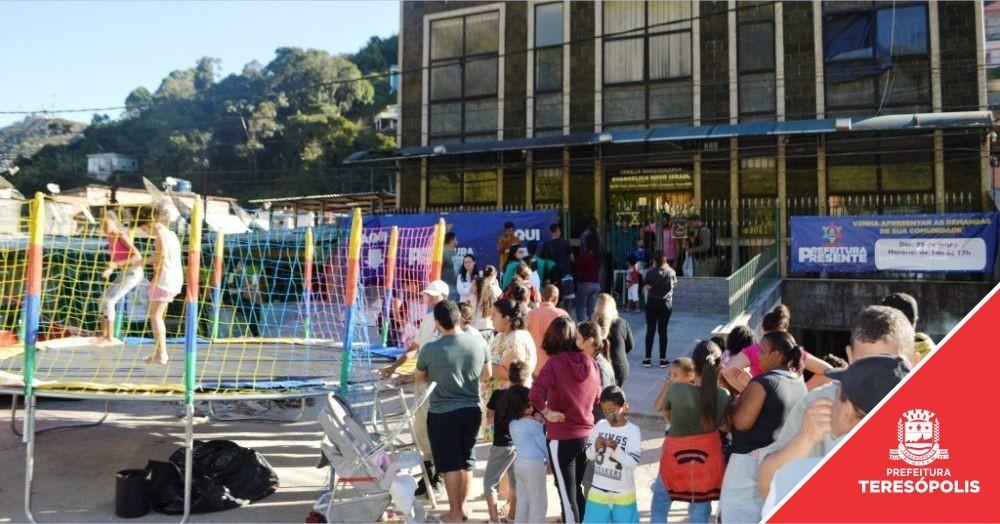 'Operação Prefeitura Presente' registra 250 atendimentos entre demandas, ação social e de saúde na Fonte Santa e Álvaro Paná