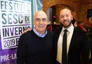 Prefeito Vinicius Claussen e Antonio Queiroz, pres. do Fecomércio