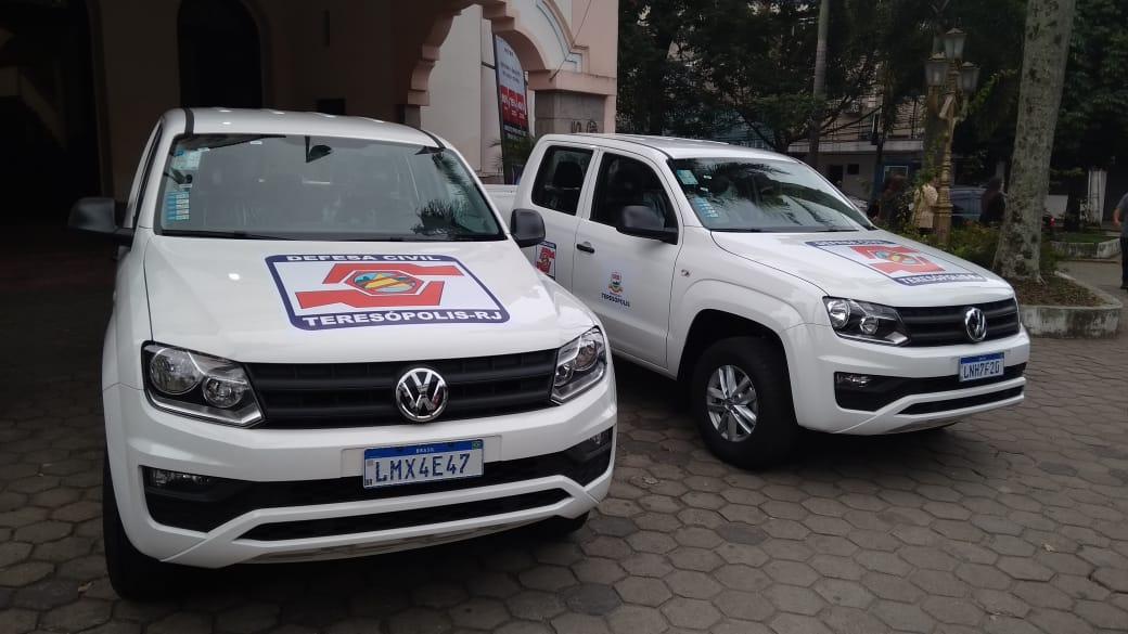 Defesa Civil recebe veículos para atender ocorrências