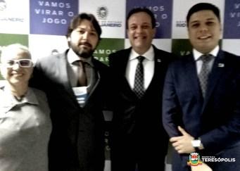 Mara Bastos, Vice-prefeito Ari Boulanger e os secretários estaduais André Moura e Juarez Fialho