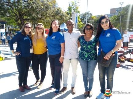 Representantes das secretarias estadual e municipal de Esporte e do Sesc Rio no 1º evento do Programa RJ Itinerante