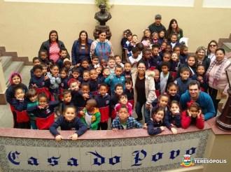 Visita dos alunos do 1º turno da Escola Marilia Porto à Prefeitura