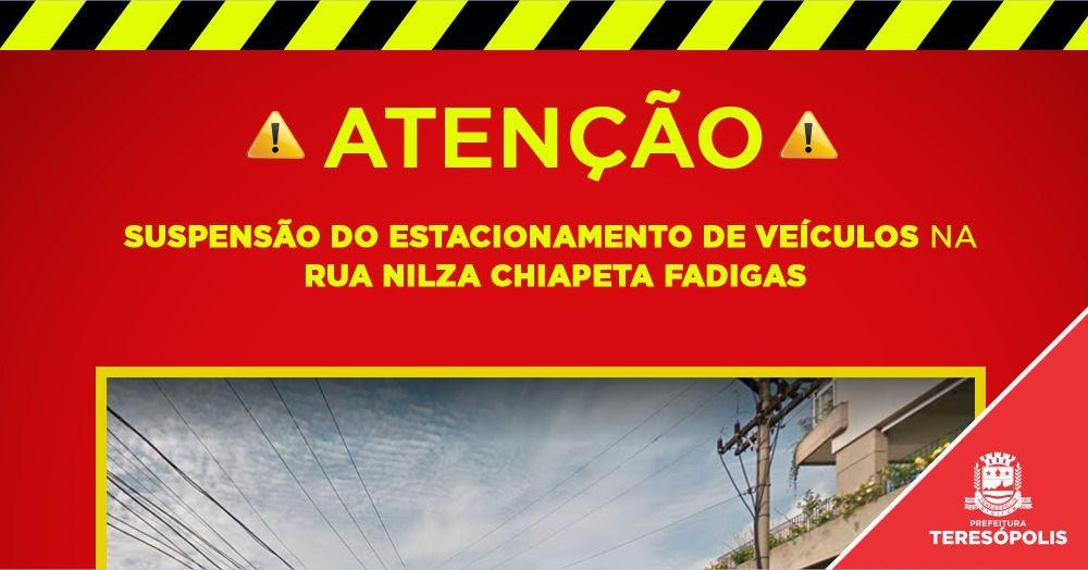 Estacionamento em trecho da Rua Nilza Chiapeta, na Várzea, será suspenso para recuperação da via pública