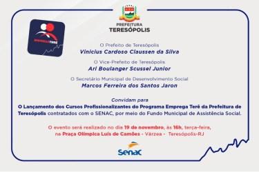 Convite lançto cursos Senac-Senai 18-11-19