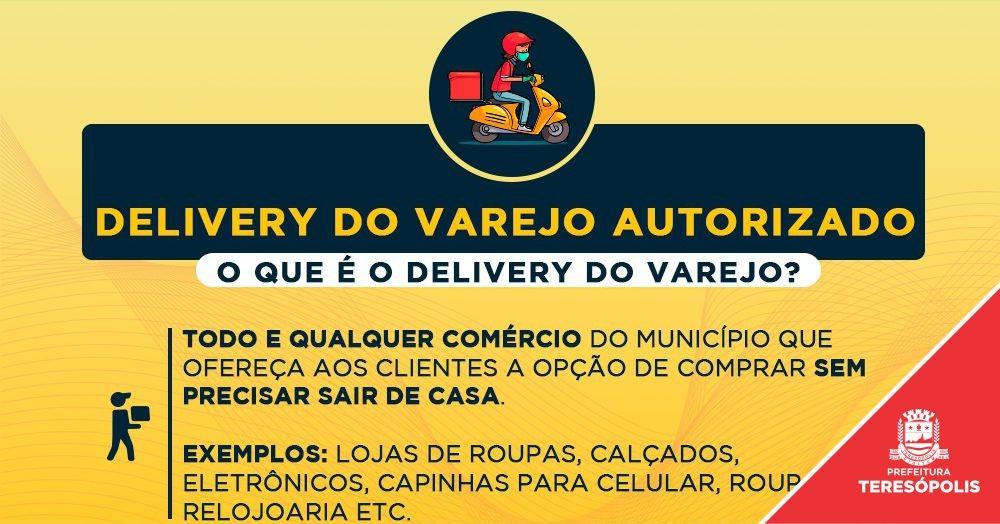 Delivery do Varejo é autorizado em Teresópolis