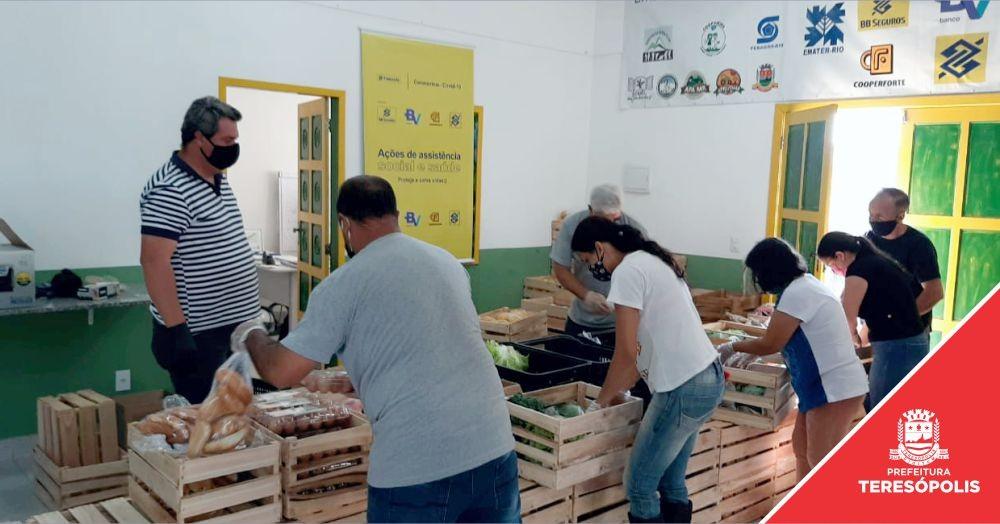 Prefeitura, Fundação Banco do Brasil e Emater iniciam distribuição de cestas de alimentos da Agricultura Familiar