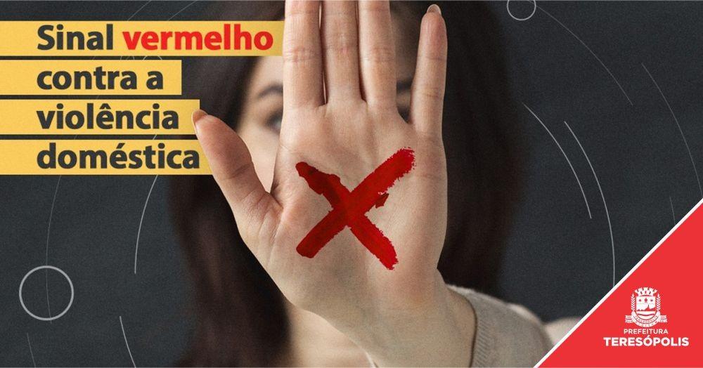 Teresópolis adere à campanha nacional 'Sinal Vermelho para a Violência contra a mulher'