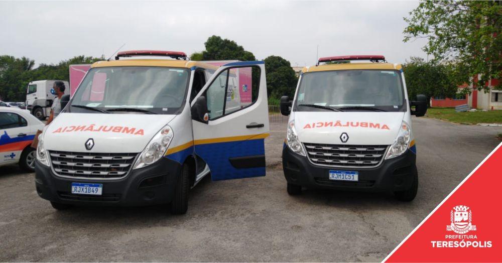 Teresópolis recebe duas novas ambulâncias para atender aos pacientes do SUS