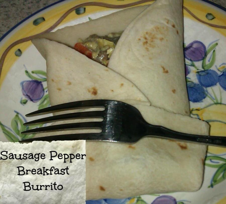 sausage pepper breakfast burrito