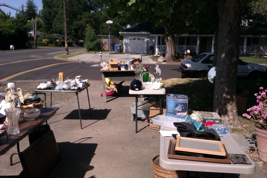 photo of a yard sale