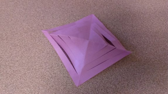 adhesive note completely unfolded
