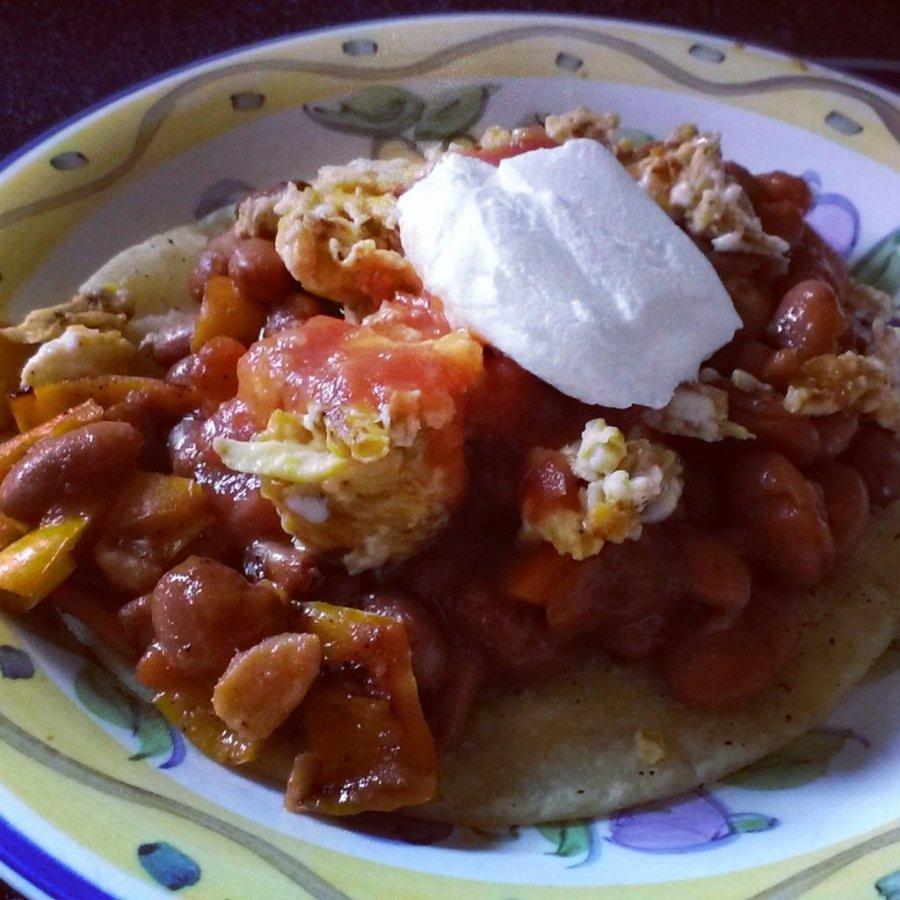 scrambled huevos rancheros recipe