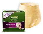 Depend underwear with Fit-Flex technology