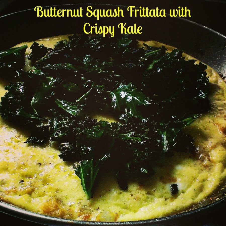 butternut squash frittata with crispy kale