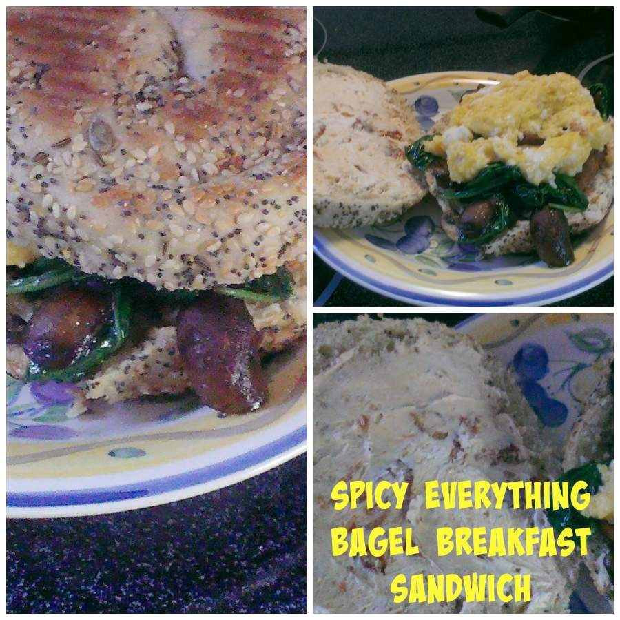 Spicy Everything Bagel Breakfast Sandwich