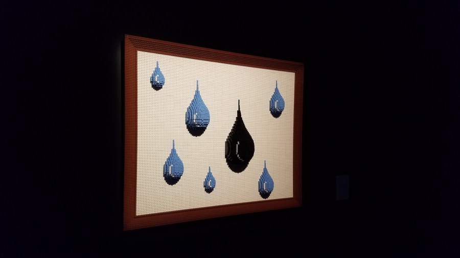 Lego raindrops in a frame