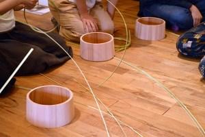 竹のタガの桶を作りました!