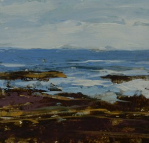 TM8677 Watching the Waves Come In #177 6x6 oil