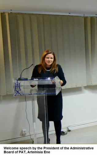 Artemisia Ene, Welcome speech by the President of the Administrative Boa...