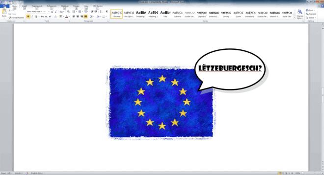 Luxembourg EU language